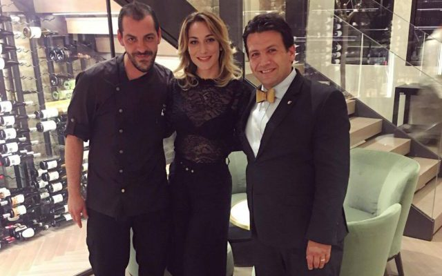 With the sommelier Simone Celeghin and the chef Federico Belluco